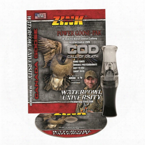 Zink Call Of Death Polycarbonate Goose Call And Instructional Dvd