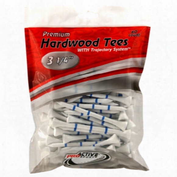 "3 1/4"" Trajectory System Tees - 80 Pack"