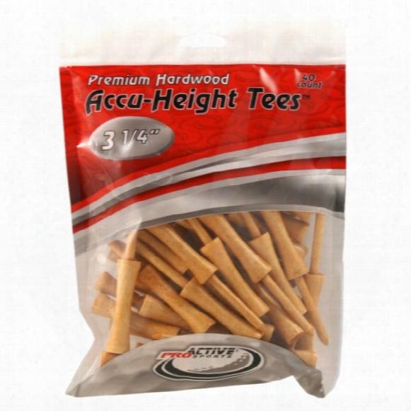"Accu-height 3 1/4"" Tees - 40 Pack"
