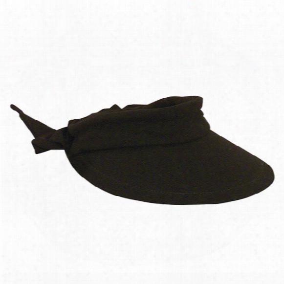 Dorfman-pacific Big Rim Cotton Visor With Bow Women's Hat