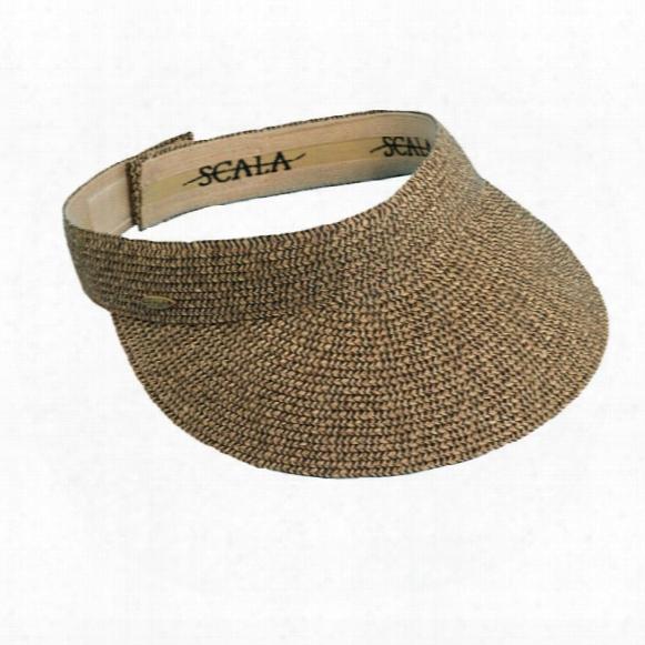 Dorfman-pacific Paper Braid Visor Junior's Hat