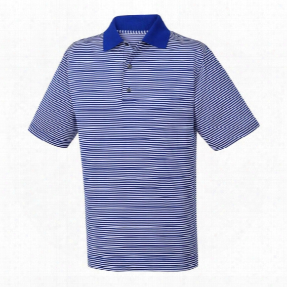 Fj Lisle Feeder Stripe Knit Collar Men's Polo