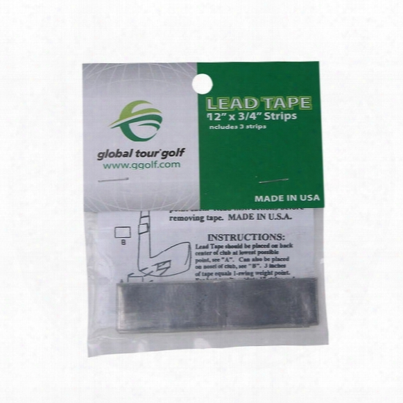 Global Tour Golf Lead Tape Strips