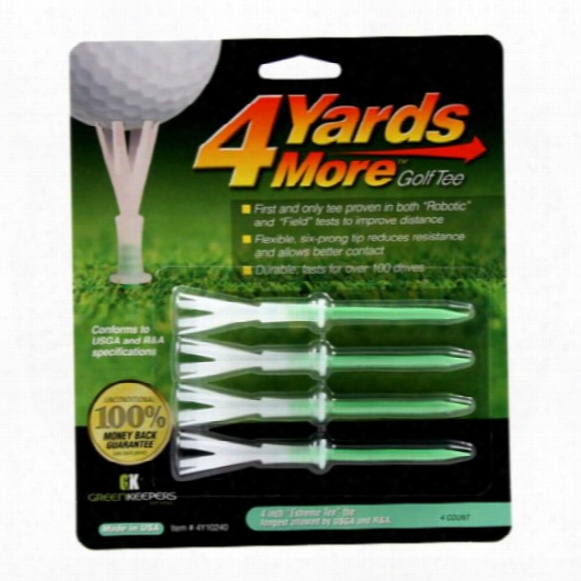 """Greenkeepers 4 Yards More 4"""" Tees"""