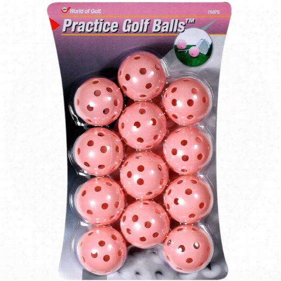 Jef World Of Golf Pink Practice Balls