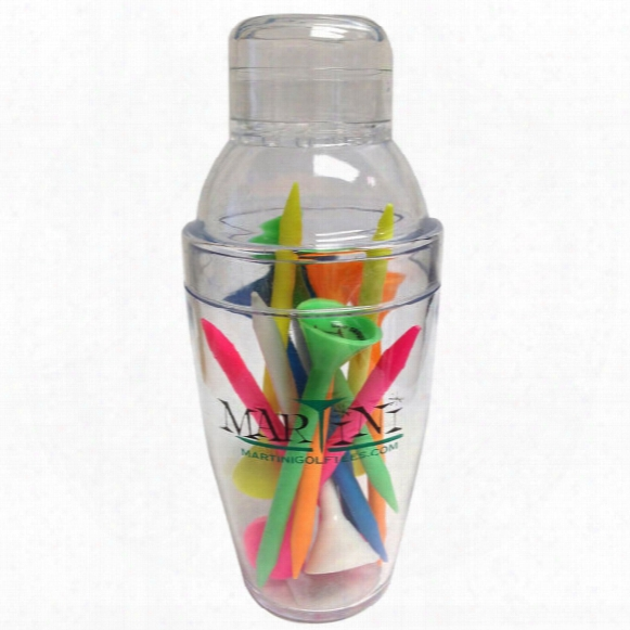 Martini Tee Mini Shaker W/ 12 Assorted Tees