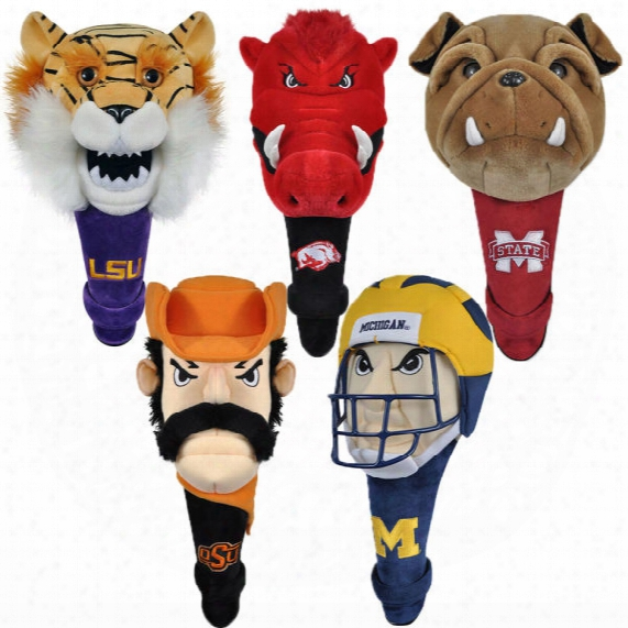 Ncaa Mascot Shaft Gripper Driver Headcover