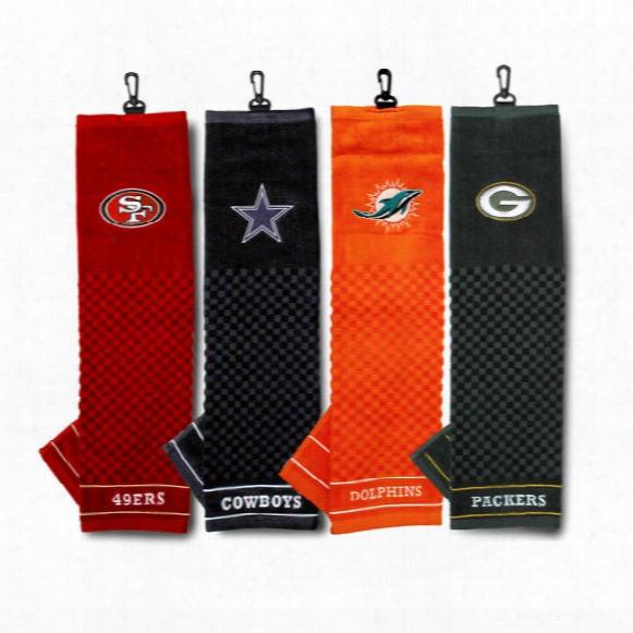 Nfl Embroidered Scrubber Towel