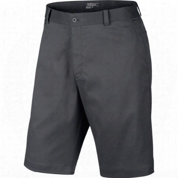 Nike Men's Flat Front Shorts - Dark Gray