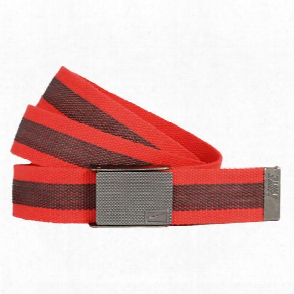 Nike Rubber Inlay Reversible Web Mens Belts