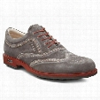 ECCO Men's Tour Hybrid Wingtip - Dark Clay/Orange