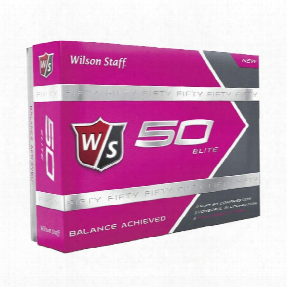 Wilson Staff Fifty Elite Women's Golf Balls