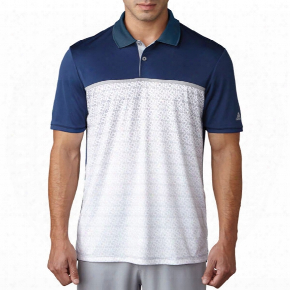 Adidas Men's Gradient Chevron Print Polo