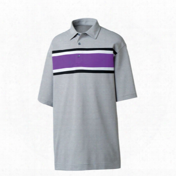 Fj Men's Pique Multi-color Chest Stripe Polo
