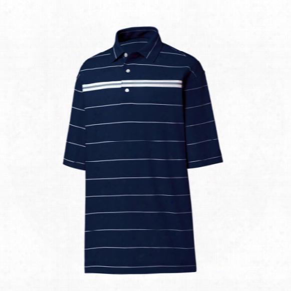 Fj Men's Smooth Pique Chest Stripe Polo