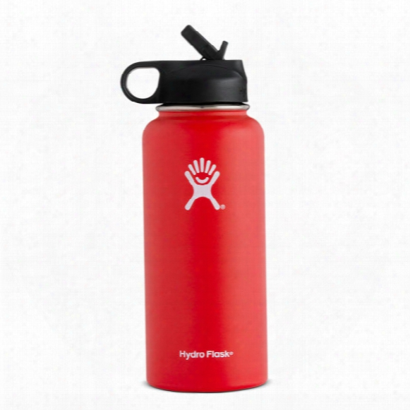 Hydro Flask 32 Oz. Wide Mouth Insulated Water Bottle W/ Straw Lid