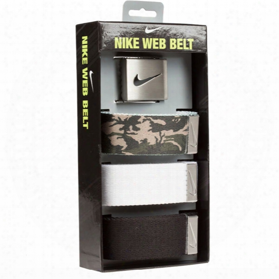 Nike Men's Camo Web Belt 3-pack