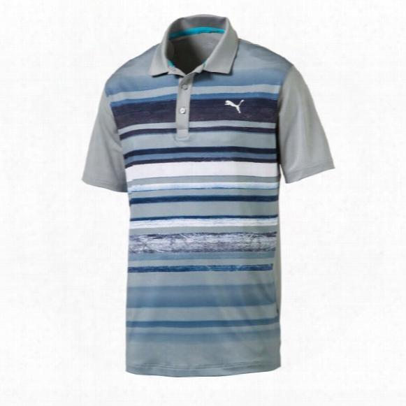 Puma Washed Stripe Polo Mens Shirts