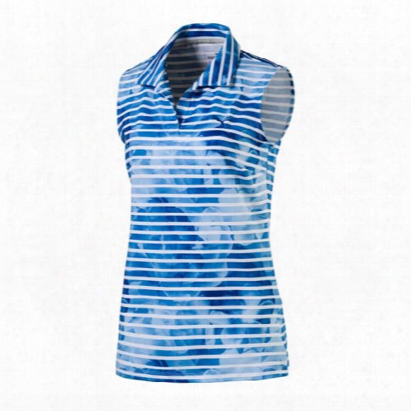 Puma Women's Bloom Stripe Sleeveless Polo