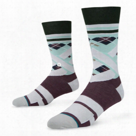 Stance Men's Tee Time Golf Dress Crew Socks