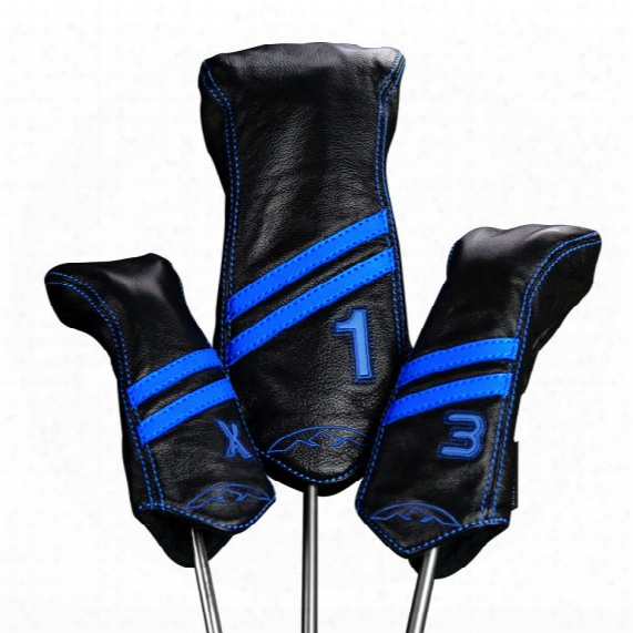 Sun Mountain Striped Leather Driver Headcover