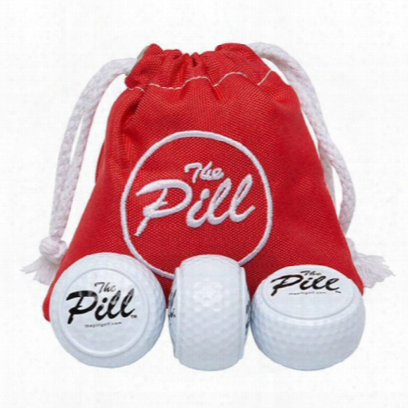 The Pill 3 Pack Training Aid Golf Ball Warm-up Set