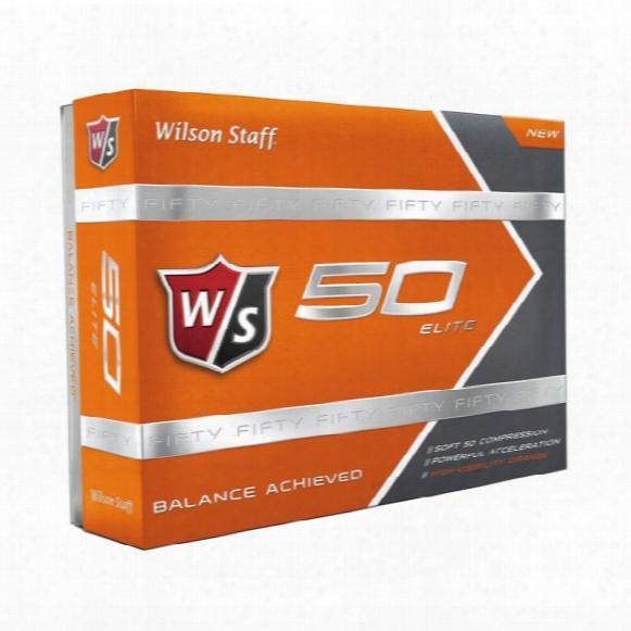 Wilson Staff Fifty Elite Golf Balls - Orange