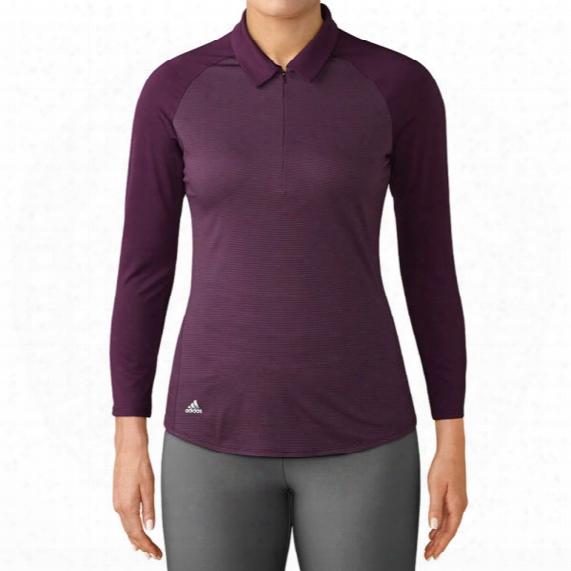 Adidas Women's 3/4 Sleeve Zippered Polo