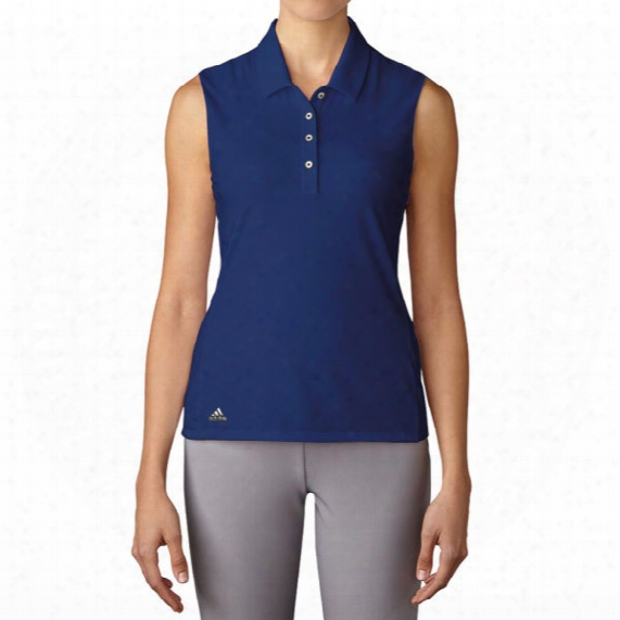 Adidas Women's Essential Cotton Hand Sleeveless Polo