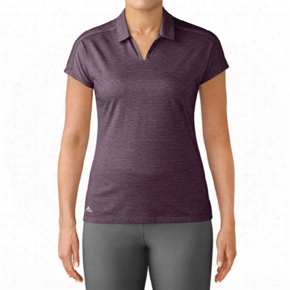 Adidas Women's Tonal Stripe Cap Sleeve Polo