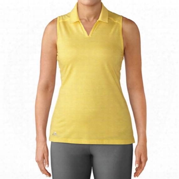 Adidas Women's Tonal Stripe Sleeveless Polo