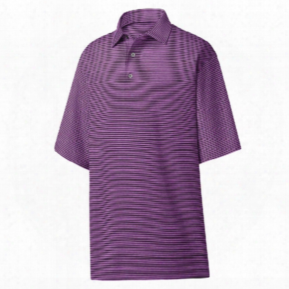 Fj Men's Heather Pintripe Lisle Polo