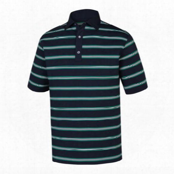 Fj Men?s Stretch Lisle Open Stripe Polo