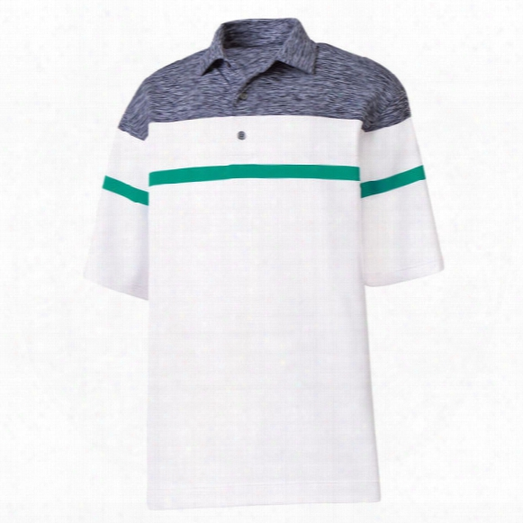 Fj Men?s Stretch Lisle Space Dye Yoke Polo