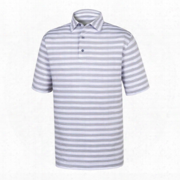 Fj Men?s Stretch Lisle Tonal Stripe Polo
