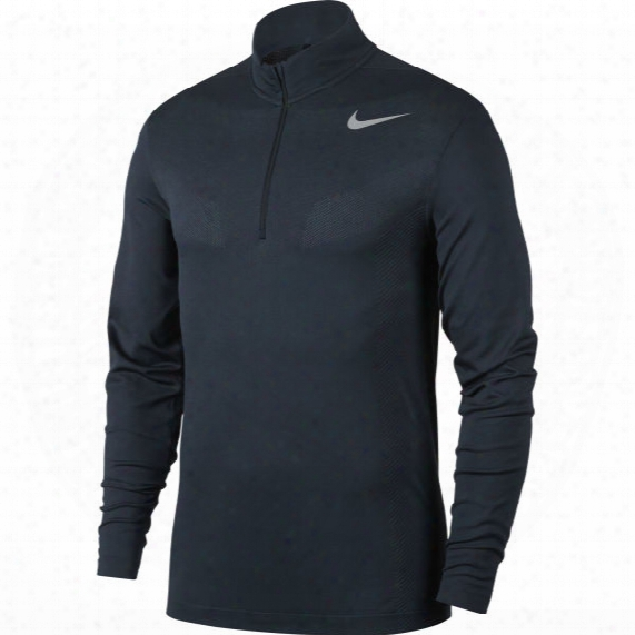 Nike Men's Seamless Half-zip Dry Long Sleeve Shirt