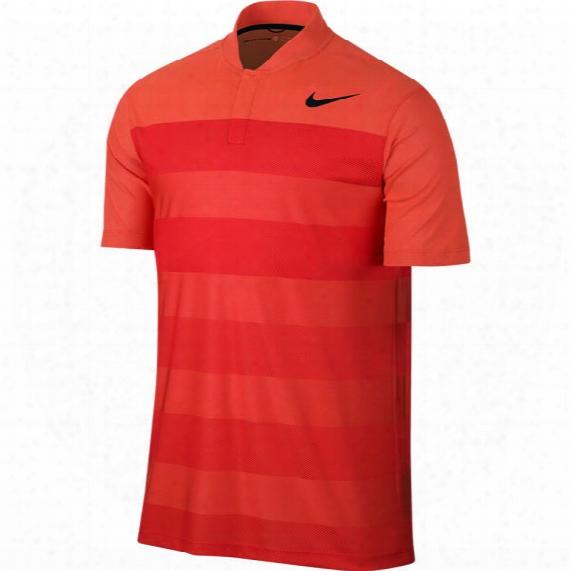 Nike Men's Tw Zonal Cooling Stripe Blade Golf Polo