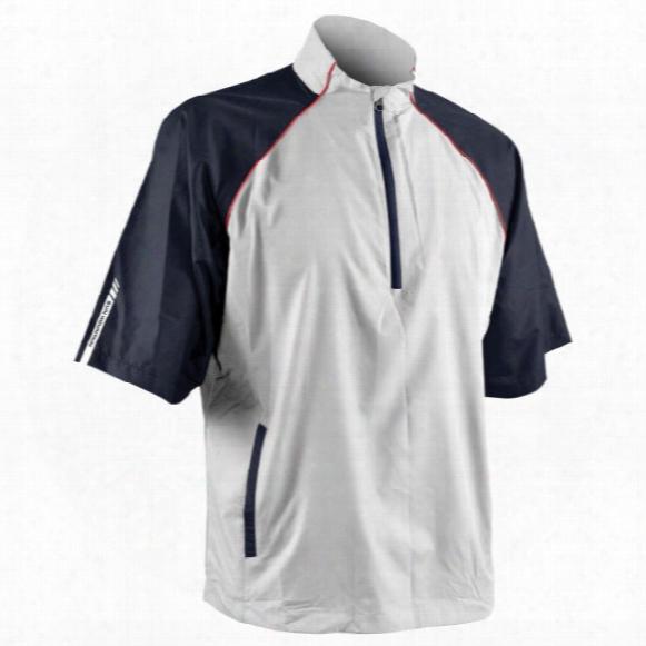 Sun Mountain Men's Headwind Short-sleeve 1/4-zip Jacket