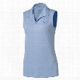 Puma Women's Jacquard Sleeveless Polo