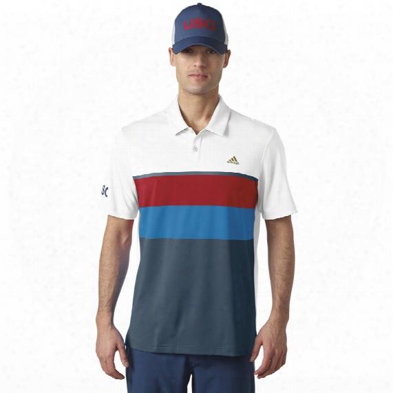 Climacoolâ® Usa Engineered Stripe Polo
