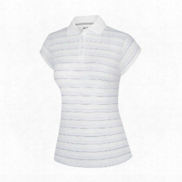 Climacool White-based Stripe Polo