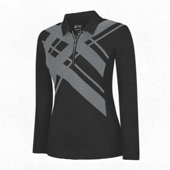 Climalite Long Sleeve Argyle Printed Polo