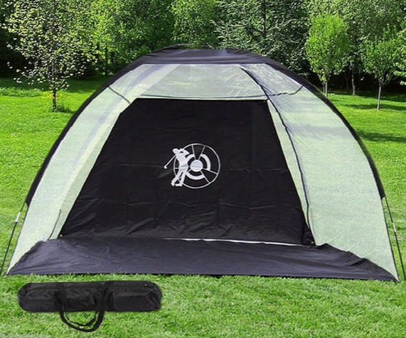 10' Golf Practice Driving Hit Net Cage Training Mat Aid Driver Irons Free Bag