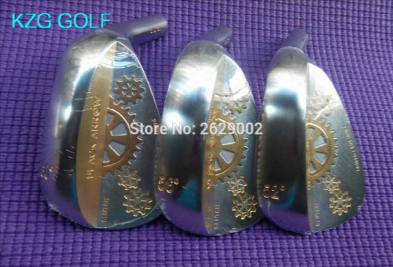 1pc Black Arrow Golf Wedge Head Forged Carbon Steel Golf Sand Wedges Head Gold/silver New No Shaft No Cover