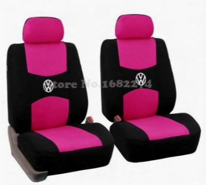 2 Front Seat Universal Car Seat Covervolkswagen Vw Passat B5 B6 Polo Golf Tiguan 5 6 7 Jetta Touran Touareg Sticker Accessories