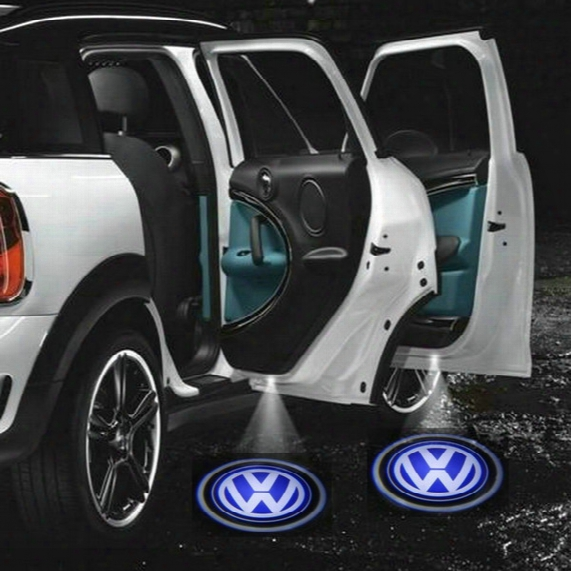 2 X 5th Gen Led Car Door Ghost Shadow Laser Projector Logo Light For Volkswagen Vw Golf 4 5 6 Polo Passat Multivan Transporter Caddy Beetle
