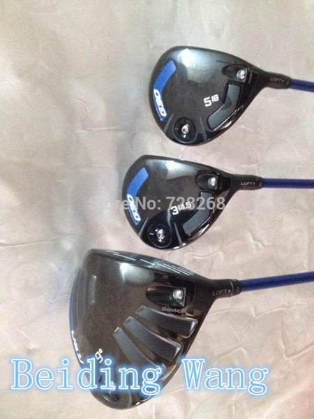 2015 New Golf G30 Driver 9 Loft Fairway Wood #3-14.5 , #5-18 With Tfc419d Graphite R Flex Shaft Golf G 30 Wood Set Clubs