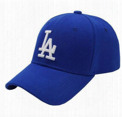 2016 Blue Black Women Men Los Angeles La Peaked Caps Curve Snapback Baseball Caps Golf Cap Sports Adjustable Women Casquette Hunting Hats Sd