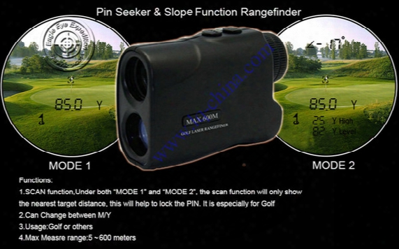 2016 New 600m Golf Rangefinder,golf Laser Range Finder Angle Finder Monocular Angle Of Elevation,with Slope&pin Seeking Function