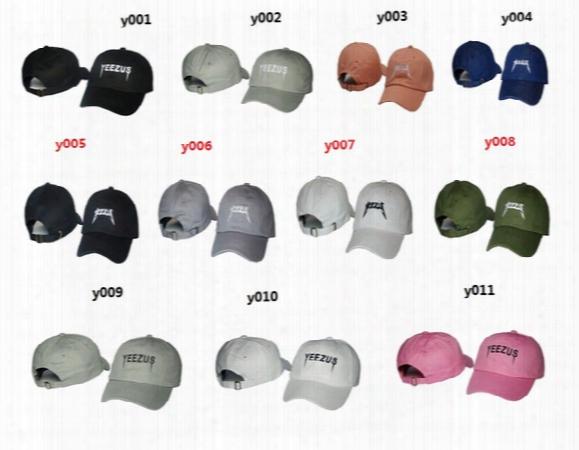 2016 New Design Peaked Caps Adjustable Snapback Caps Hight Quality Hat Snapbacks Yeezus Kanye West Golf Caps For Men Free Shipping.